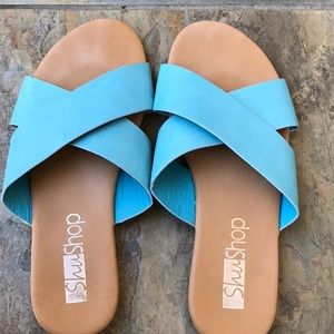 ShuShop Turquoise Sandals